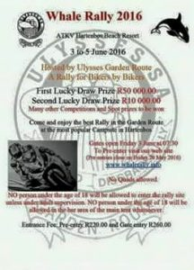 12TH WHALE RALLY 2016 @ HARTENBOS ATKV RESORT | Western Cape | South Africa
