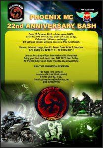Phoenix MC 22nd Anniversary Bash @ Jabulani Lodge