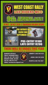 LEE RIDERS WESTCOAST RALLY @ Tabakbaai | Saldanha | Western Cape | South Africa