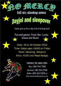 No Mercy Day Jol & Sleep Over @ Oewersig | Nelspruit | Mpumalanga | South Africa
