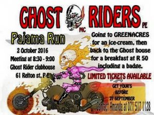 GHOST RIDERS MC PE PAJAMA RUN @ GHOST RIDER CLUBHOUSE | Port Elizabeth | Eastern Cape | South Africa