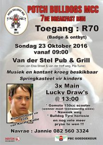 OCT23 Potch Bulldogs Mcc Breakfast Run 2016 @ Van Der Stel Pretoria | Pretoria | Gauteng | South Africa