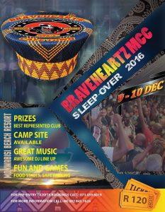 BRAVEHEARTS MCC CAPE TOWN SLEEPOVER 2016 @ MONWABISI BEACH RESORT | Cape Town | Western Cape | South Africa