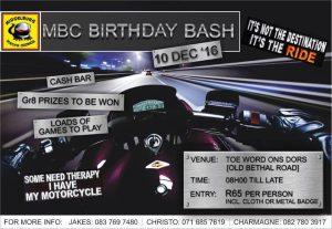 MBC BIRTHDAY BASH @ TOE WORD ONS DORS | Middelburg - MP | Mpumalanga | South Africa