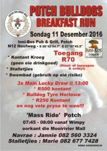 POTCH BULLDOGS MCC Breakfast Run in Potchefstroom