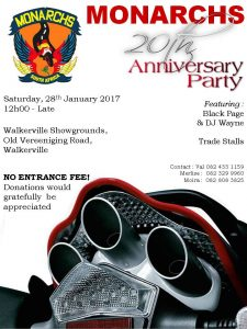 Monarchs Anniversary Party @ Walkerville Showgrounds