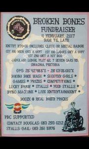 Broken Bones Fundraiser @ Jabulani Lodge