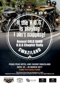 Goldrand HOG Rally in Swaziland @ Piggs Peak Hotel and Casino