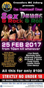 FEDrugs and Rock n Roll - First time ever in South Africa @ Crusaders MC Joburg and Clubhouse | Johannesburg South | Gauteng | South Africa