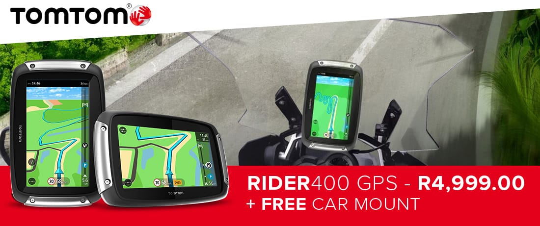 Special Offer: TomTom Rider400 now only R4999 with a FREE car mount