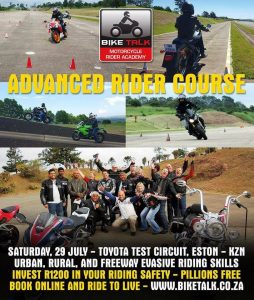 ADVANCED RIDERS COURSE @ TOYOTA TEST CIRCUIT | KwaZulu-Natal | South Africa