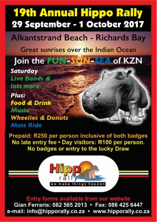 Hippo Motorcycle Rally @ Alkantstrand Beach - Richards Bay Kwa-Zulu Natal | Richards Bay | KwaZulu-Natal | South Africa