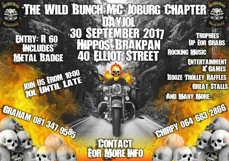 The Wild Bunch MC Joburg chapter DAY JOL @ HIPPOS BRAKPAN
