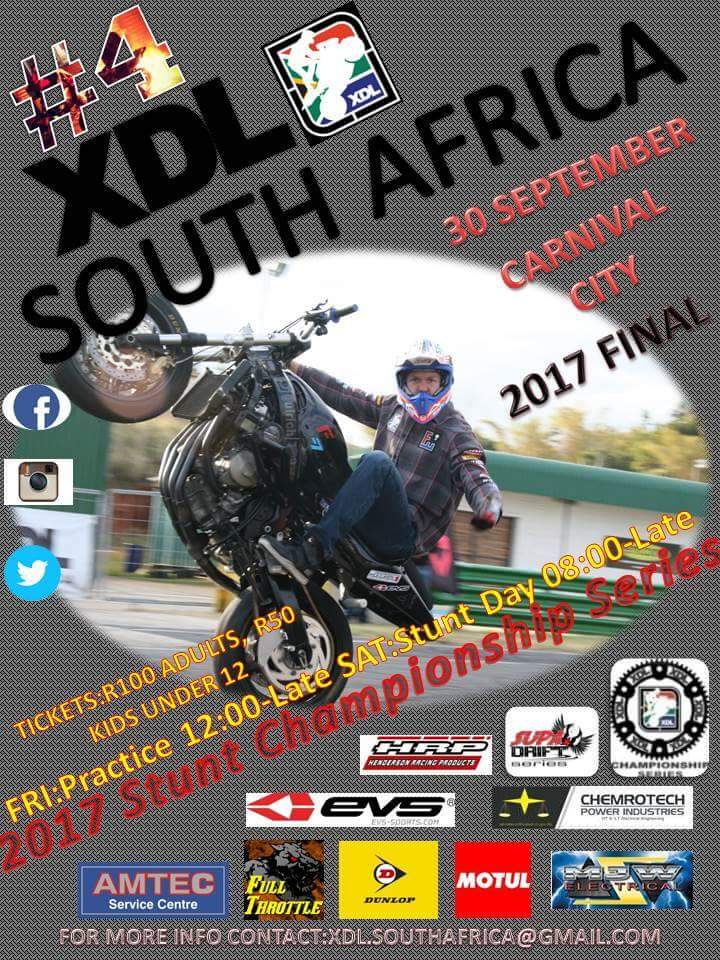 2017 XDL South Africa Sport Bike Freestyle Stunt Riding Championship FINAL @ Carnival City | Boksburg | South Africa