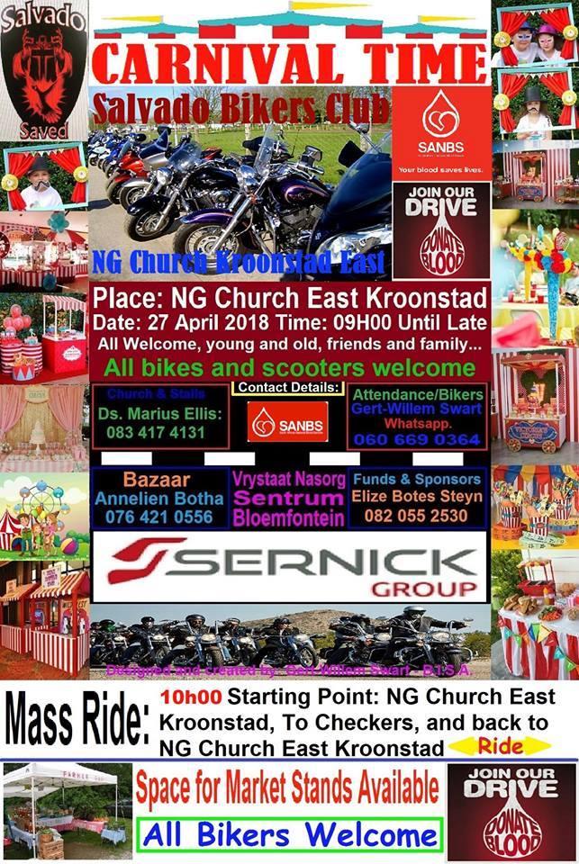 CARNIVAL SALVADO BIKERS CLUB @ NG CHURCH EAST KROONSTAD