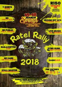 RATEL RALLY 2018 @ SPRINGS HOLIDAY RESORT  | Uitenhage | Eastern Cape | South Africa