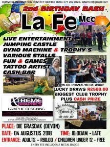 La Fe Mcc 2nd BIRTHDAY BASH @ Grasdak | Devon | Gauteng | South Africa