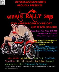 WHALE RALLY 2018 @ ATKV HARTENBOS BEACH RESORT  | Mossel Bay | Western Cape | South Africa