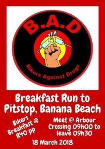 BREAKFAST RUN TO PITSTOP, BANANA BEACH