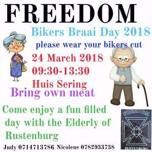 Freedom Bikers Braai Day 2018 @ HUIS SERING   Rustenburg   North West   South Africa