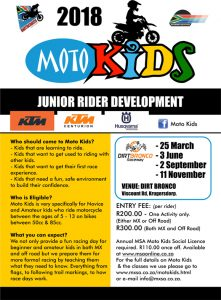 2018 MOTO KIDS @ DIRT BRONCO | Krugersdorp | Gauteng | South Africa