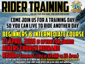 Motorcycle training day - All welcome @ BIKER CHURCH  | Midrand | Gauteng | South Africa