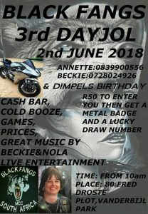 BLACK FANGS VAAL 3rd DAYJOL AND DIMPELS BIRTHDAY @ Black Fangs Vaal | Vanderbijlpark | Gauteng | South Africa
