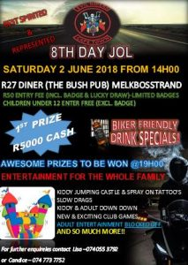 8TH DAY JOL @ R27 DINNER (THE BUSH PUB) | Cape Town | Western Cape | South Africa