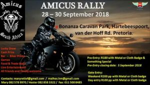 Amicus Rally @ Bonanza Caravan Park | Pretoria | Gauteng | South Africa