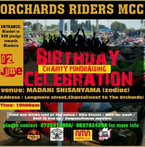 BIRTHDAY CHARITY FUNDRAISING CELEBRATION @ MADANI SHISANYAMA  | Akasia | Gauteng | South Africa