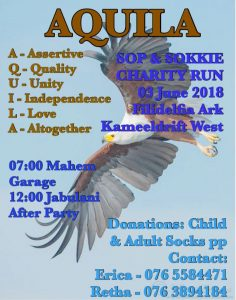 AQUILA SOP & SOKKIE CHARITY RUN @ Jabulani Lodge
