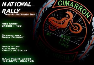 Cimarron MC National Rally @ Ilalla Palms | Pretoria | Gauteng | South Africa