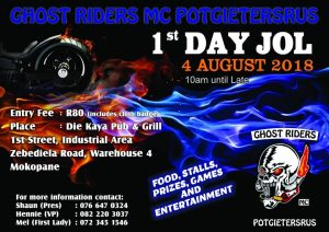 GHOST RIDERS MC POTGIETERSRUS 1ST DAY JOL @ DIE KAYA PUB & GRILL | Mokopane | Limpopo | South Africa