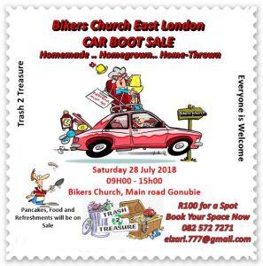 Bikers Church East London BOOT SALE @ BIKERS CHURCH | East London | Eastern Cape | South Africa