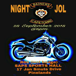 BADNEWS CAPE TOWN NIGHT JOL @ SAPS SPORT HALL  | Cape Town | Western Cape | South Africa