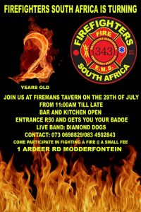 Fire Fighters 2nd Birthday Bash @ Firemans Tavern