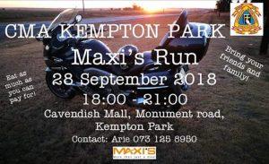 CMA KEMPTON PARK MAX'S RUN @ CAVENDISH MALL | Kempton Park | Gauteng | South Africa