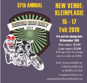 CMA Freedom Road Rally 2019 @ Kleinplasie Raceway | Worcester | Western Cape | South Africa