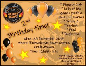 2nd BIRTDAY BASH @ Riebeeckstad Sport Centre