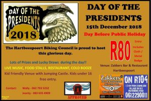 Day of the Presidents 2018 @ Zakkers Bar and Restaurant | Zandfontein | North West | South Africa
