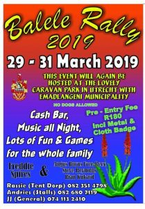 Balele Rally 2019 @ Caravan Park  | Utrecht | KwaZulu-Natal | South Africa