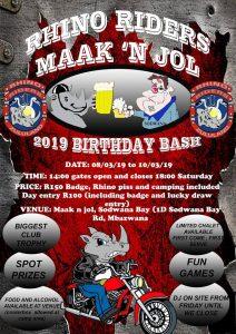 Rhino Riders Maak N Jol @ Maak n Jol  | KwaZulu-Natal | South Africa