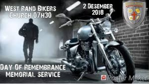 West Rand Biker Memorial Service 2018 @ WEST RAND Bikers Church | Krugersdorp | Gauteng | South Africa