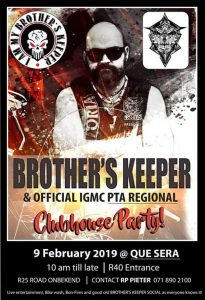 Brother's Keeper Clubhouse Party @ Que Sera  | South Africa