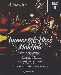 Immortals Hood HobNob chandis #Sagte_Tye @ Ubuntu Kraal