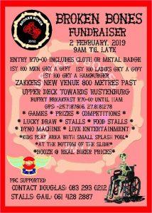 Broken Bones Fundraiser @ Zakker Pub & Grill