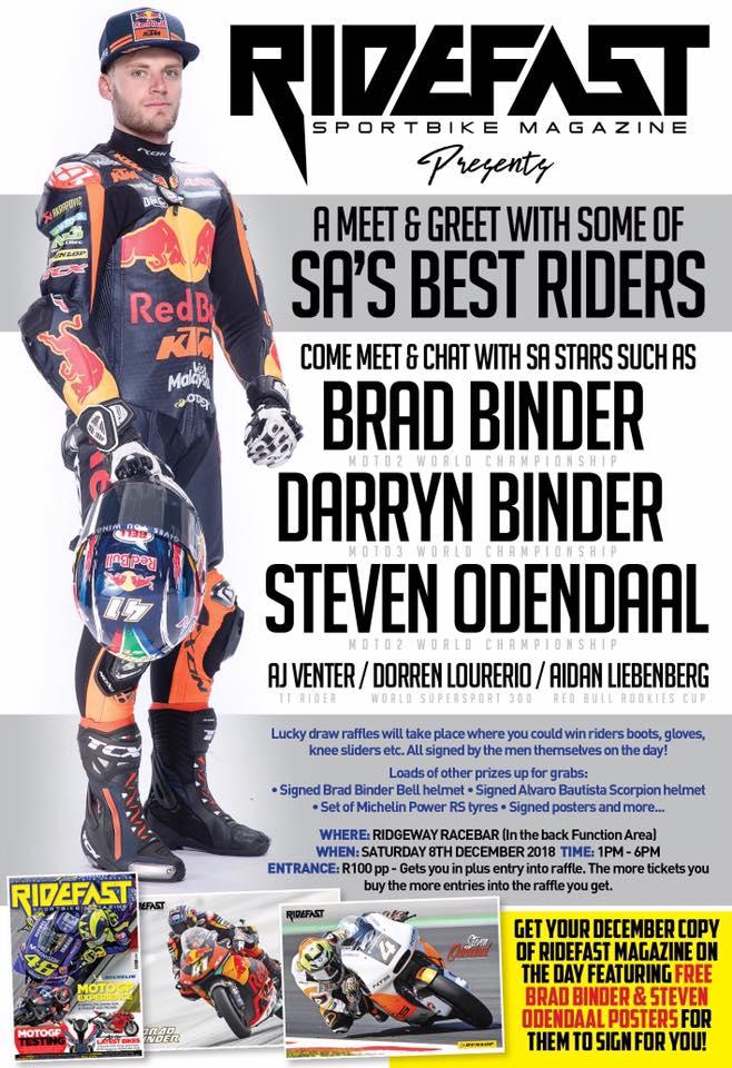 A MEET & GREET WITH SOME OF SA'S BEST RIDERS @ Ridgeway Racebar