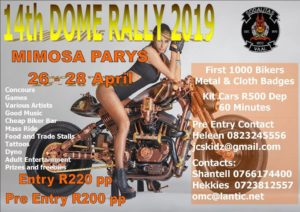 DOME RALLY 2019 @ Mimosa Tuise/Gardens