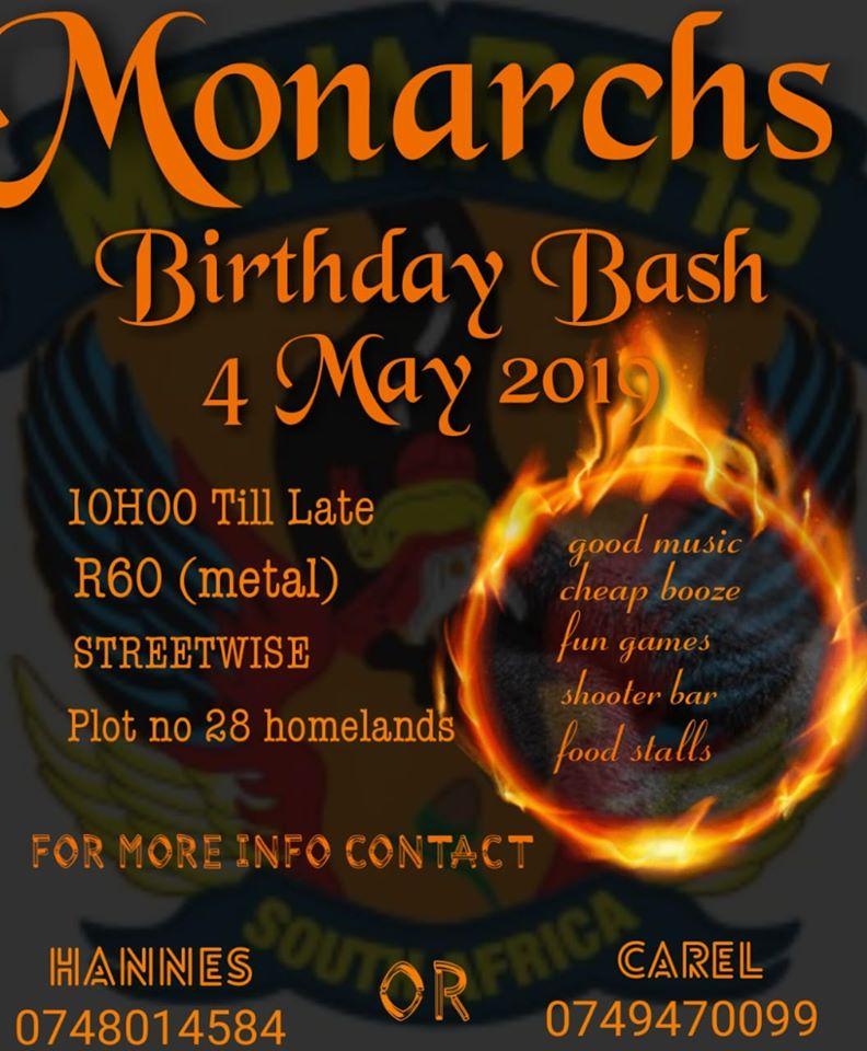 Monarchs Birthday Bash - ZA Bikers