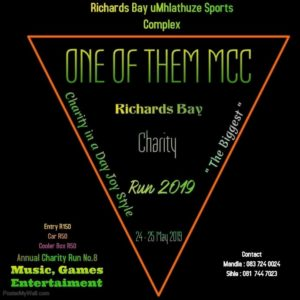 One of Them Mcc Charity Run @ Richards Bay uMhlathuze Sports Complex